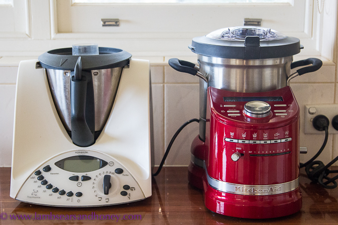 the kitchenaid cook processor vs the thermomix my comparison lambs 39 ears and honey a food. Black Bedroom Furniture Sets. Home Design Ideas