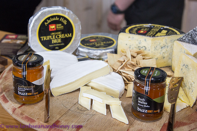 Buzz Honey paired with delcious Udder Delights cheese