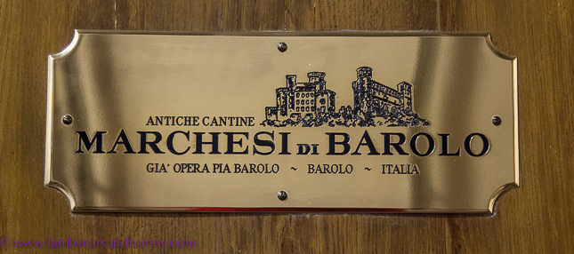 Barrel label, Marchesi di Barolo