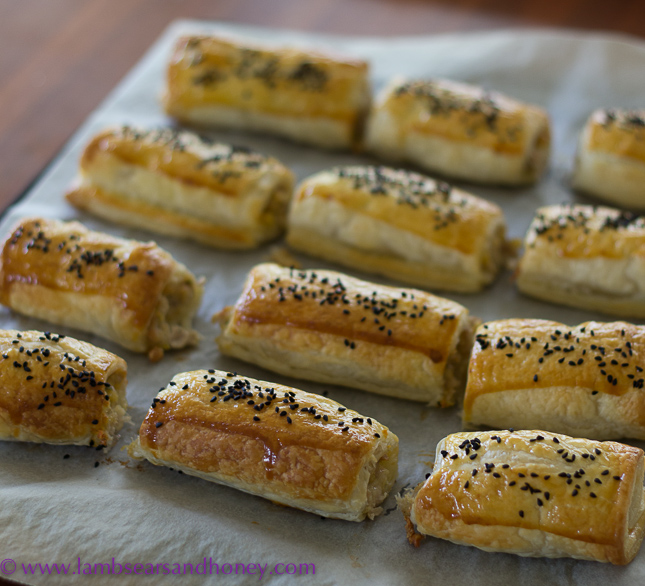 Chicken and thyme sausage rolls