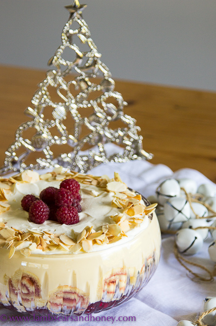 Raspberry & White Chocolate Trifle - Lambs' Ears and Honey | A Food ...