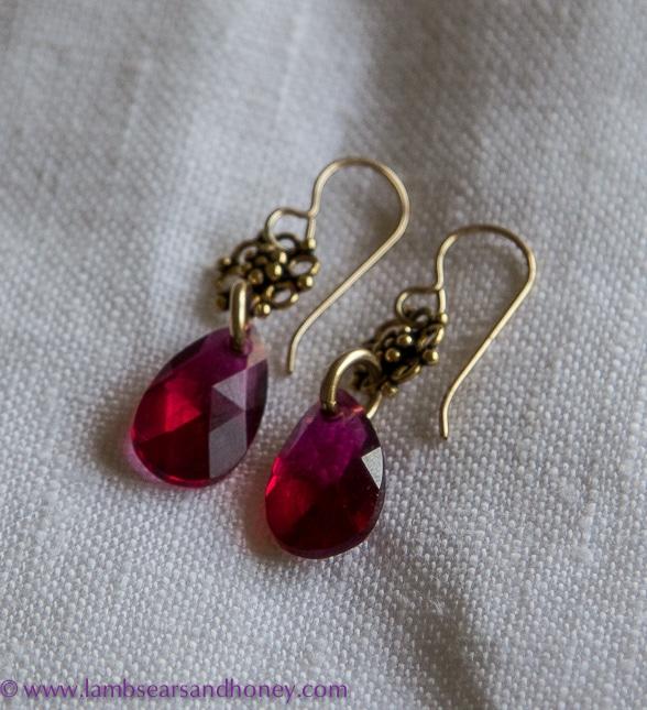 earrings in my kitchen