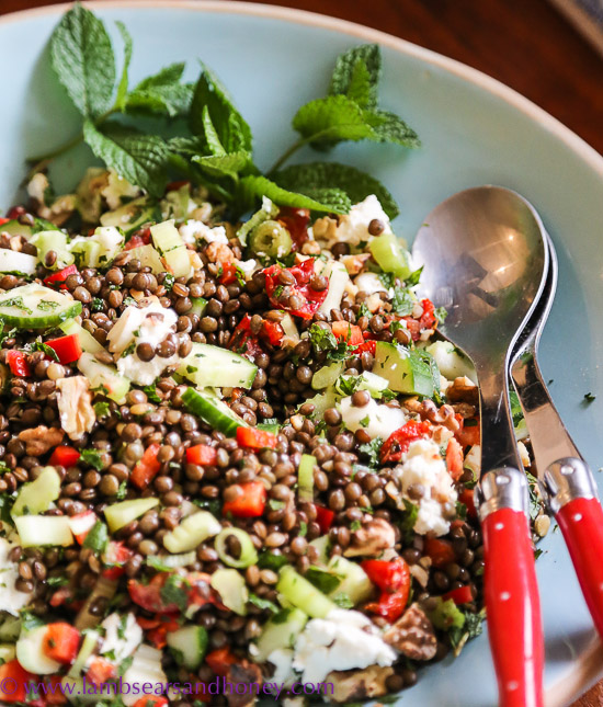 Year of Pulses Lentil, Walnut and Goat Cheese Salad