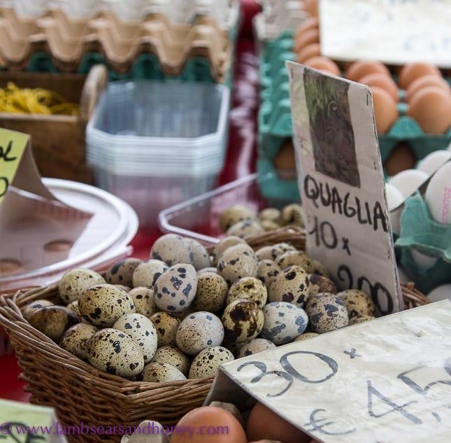 Porta Palazzo markets, quail eggs