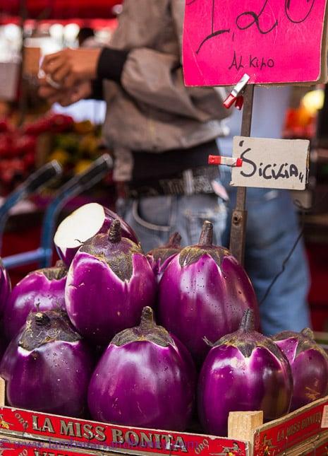 Porta Palazzo Market, eggplant