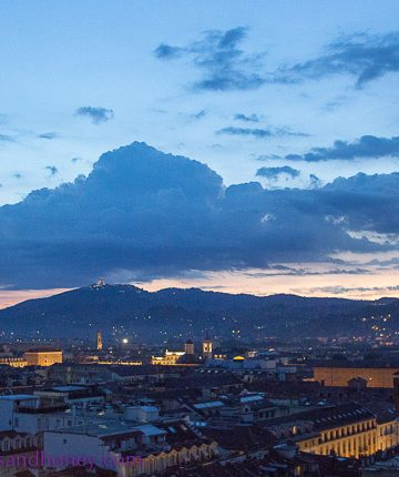 Turin skyline at dawn
