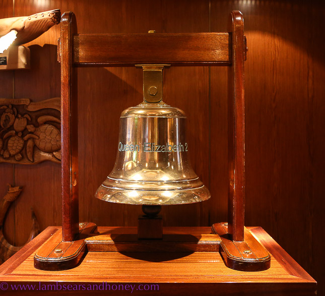 original bell from Cunard's QE2