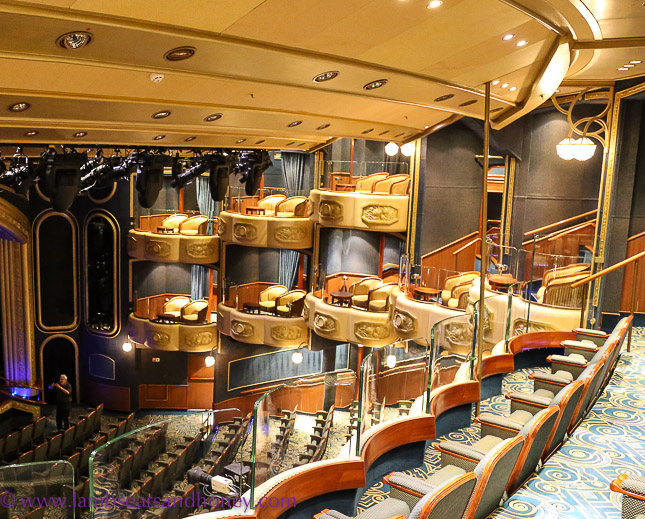 Cunard's queen elizabeth private boxes in Royal court Theatre