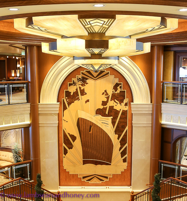 Marquetry on Cunard's queen elizabeth