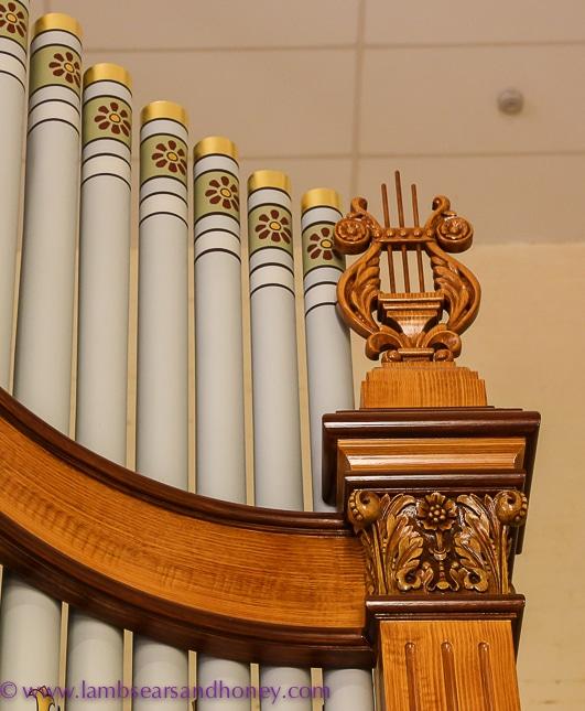 Barossa Valley Secrets ornamental details on historic pipe organ