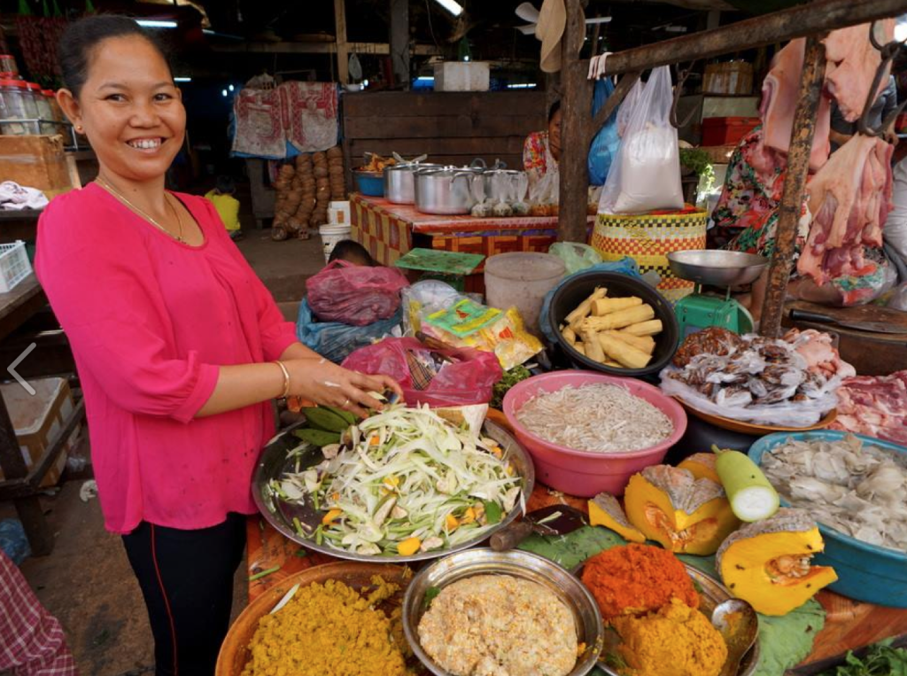 Siem Reap food tours, market visit