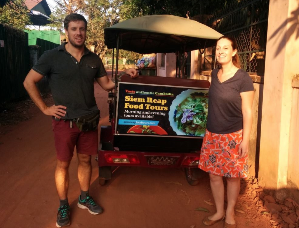 siem reap food tours, Steven & LIna