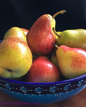 In My Kitchen, pears July 16
