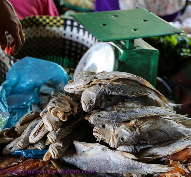 psar leu market, dried fish