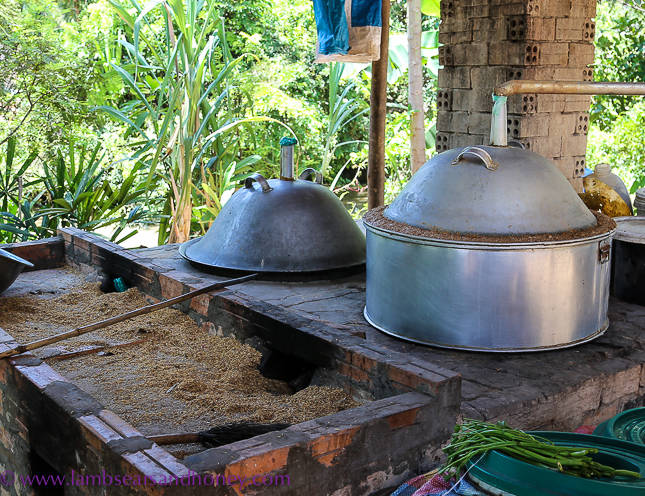 Rice wine distillery - Cambodian food production