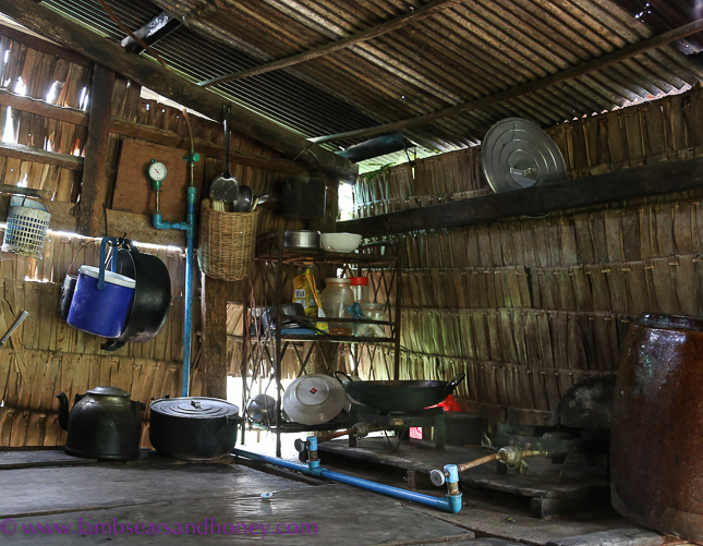 Cambodian food production - a modest farmer's kitchen
