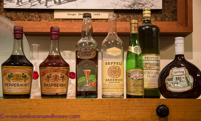 Indian Pacific Seppeltsfield bottles