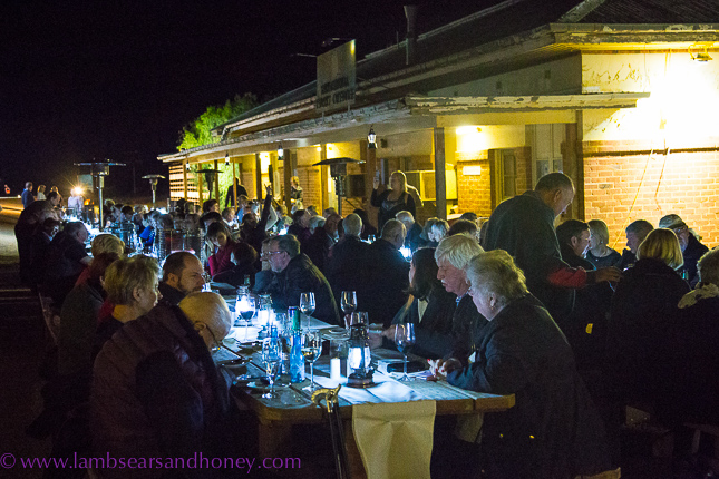 Indian Pacific dinner in the desert