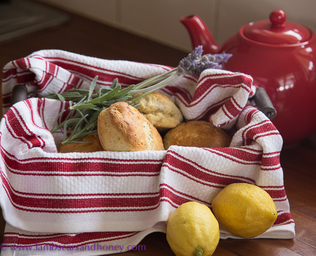 Lavender and Lemon Scones for internat scone week