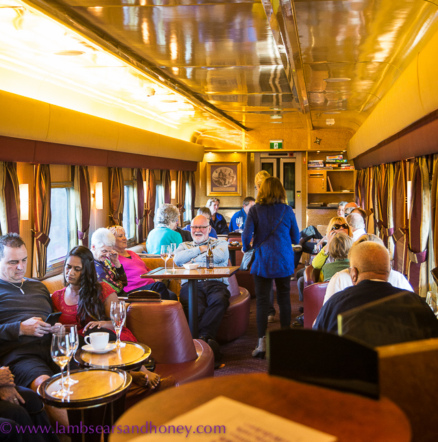 Outback Explorer lounge onboard the indian pacific