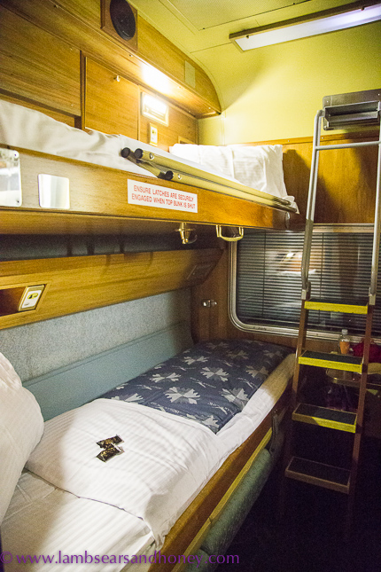 ready for bed onboard the indian pacific