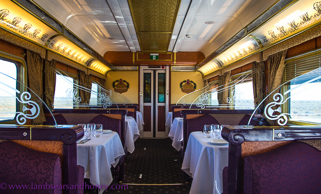 onboard the indian pacific - queen adelaide restaurant