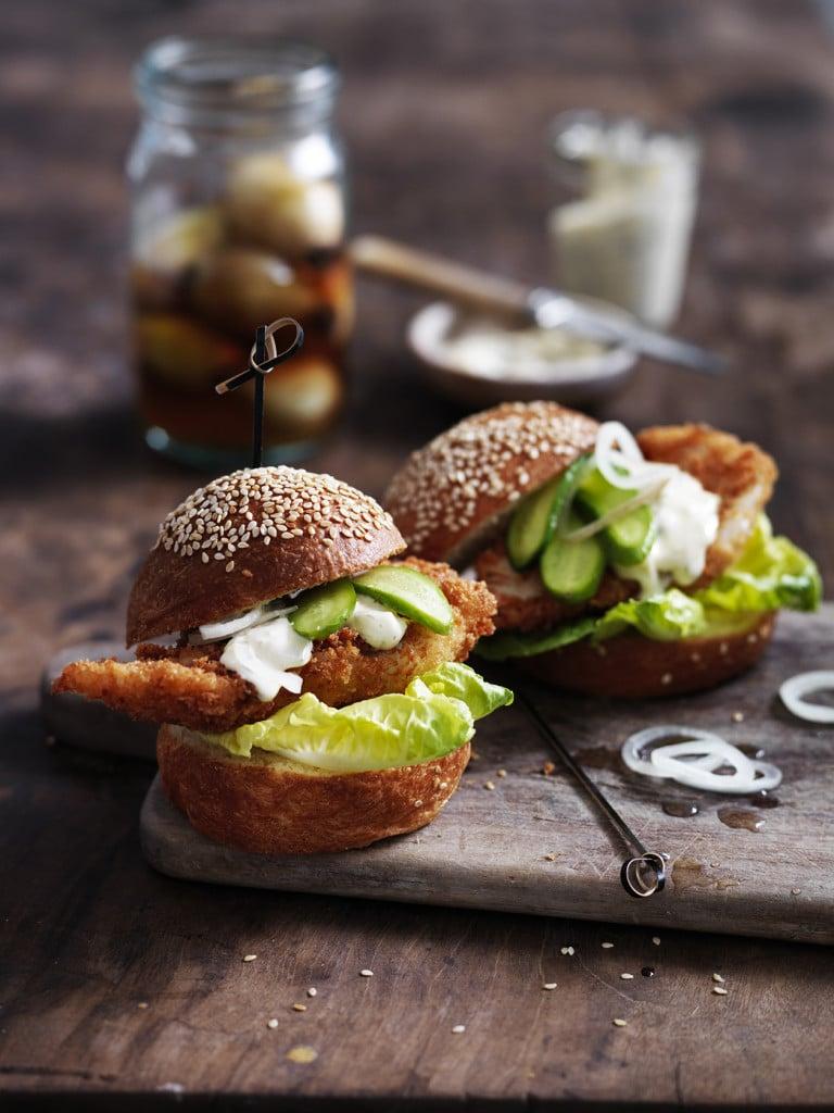australian fish & seafood cookbook, ling burger