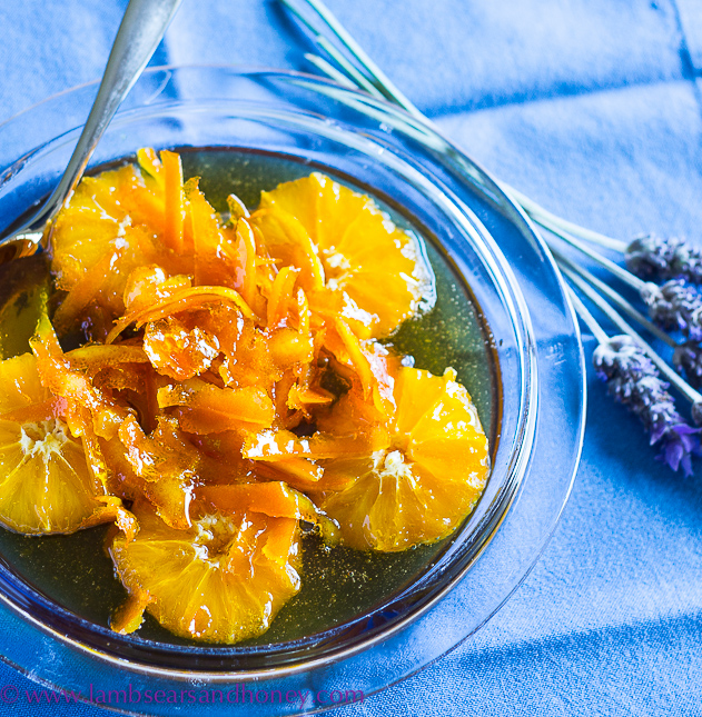 Italian poached oranges