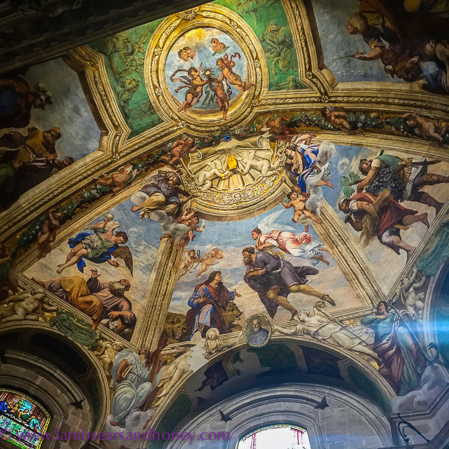 italian churches, beautiful ceiling colours