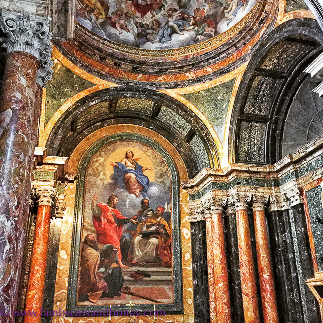 Lots of marble in italian churches