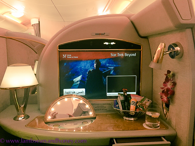 emirates first class vanity table