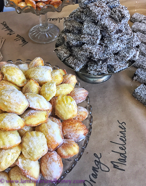 Symposium of Australian Gastronomy - madeleines & lamingtons for morning tea