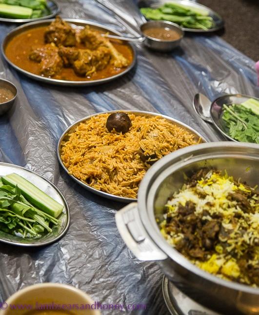 A dubai food tour family dinner