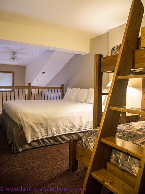 bedroom, Cahilty hotel, sun peaks resort