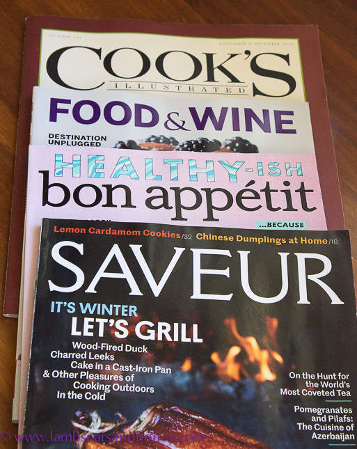 In My Kitchen February 2017 food magazines