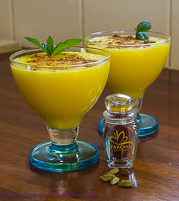 sholeh zard, a persian saffron rice pudding