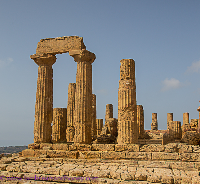 agrigento valley of the temples, ancient stones