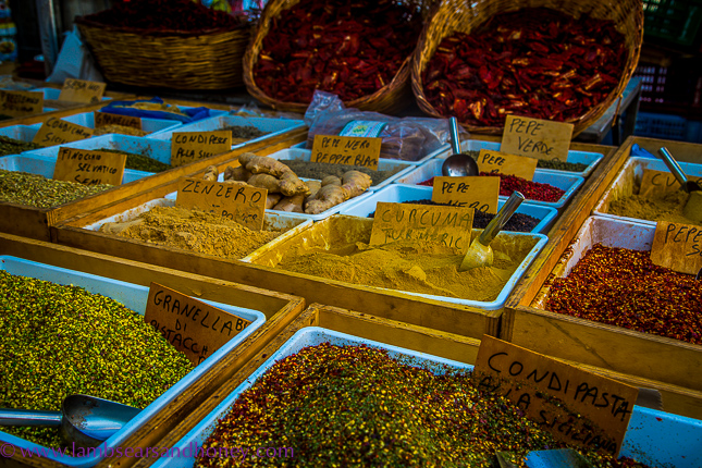 Ortigia market - spices in the market