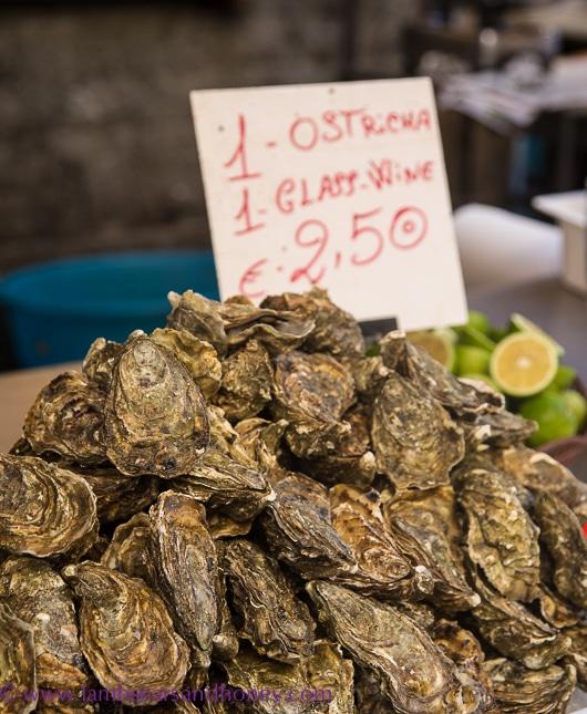 Ortigia market oysters