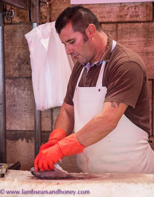 ortigia market fishmonger