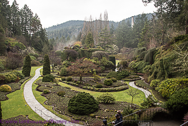 butchart gardens on vancouver island, the sunken garden