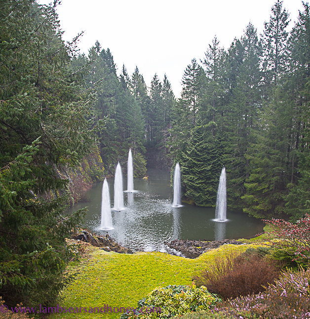 Fountains in the sunken garden butchart gardens on vancouver island