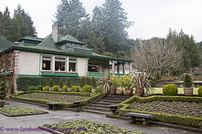 butchart gardens on vancouver island, view to house