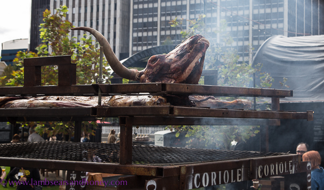Whole cow barbecued at Tasting Australia