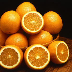 fennel braised in orange juice - oranges.