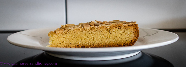 almond and orange zest dense butter cake