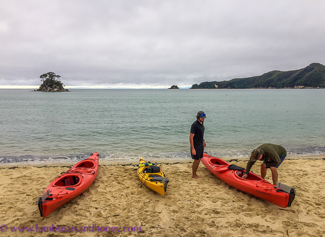 Keen kayakers Wilsons Abel Tasman