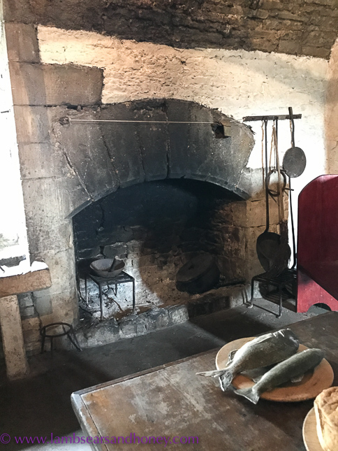 Original bolton castle kitchen