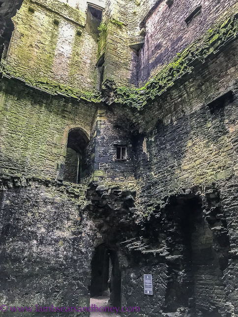 Interior damage at bolton castle
