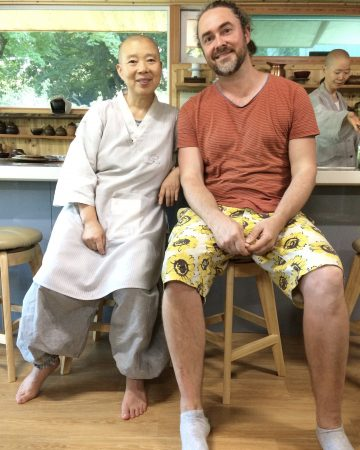 Jeong Kwan with Adam James